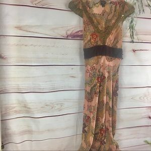 Plenty by Tracey Reese Silk Boho Trumpet Dress